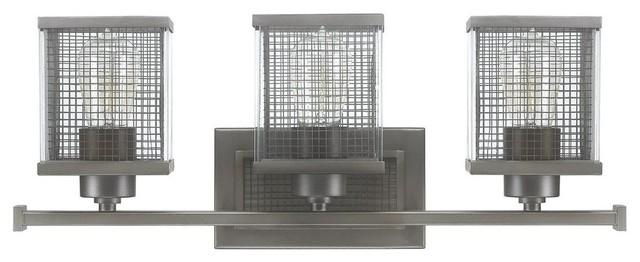 Contemporary Urban Bath Vanity Light: Capital Lighting Carson Graphite Urban Bathroom / Vanity