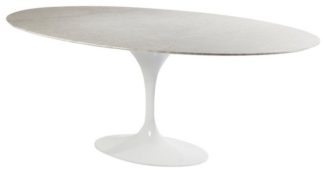 Oval Tulip Dining Table, Marble
