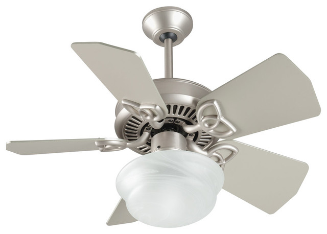 Piccolo Indoor Ceiling Fans, Brushed Satin Nickel.