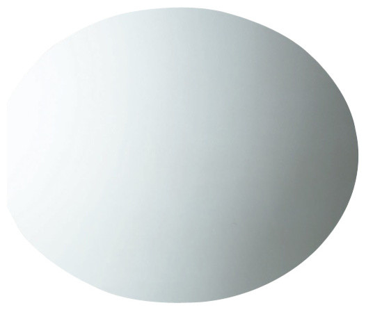 Round Wall Mounted Mirror With Polished Edge Contemporary
