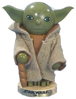 "Kurt Adler 7.5"" Star Wars Yoda Nutcracker"