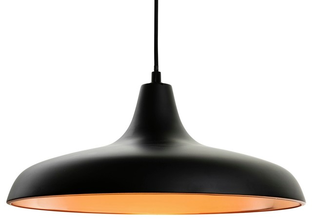 Curtis Pendant Light, Matte Black and Copper