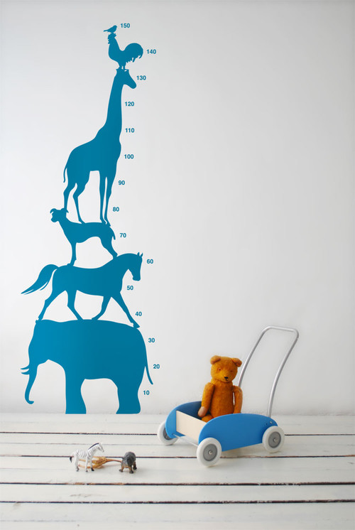 Ferm Living - Animal Tower Wall Sticker modern decals