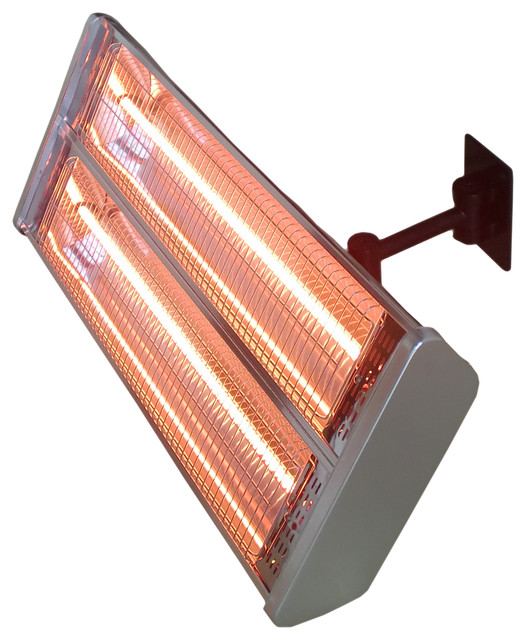 AZ Patio Heaters   Electric Double Heating Wall Mount Infrared Heat Lamp    Patio Furniture And