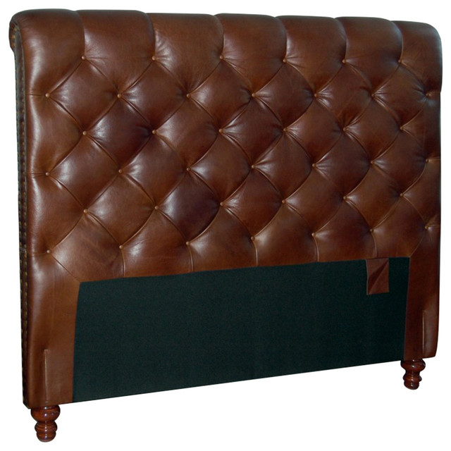 For Now Designs Chesterfield Genuine Leather Headboard