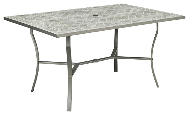 Home Styles Umbria 60 X40 Concrete Tile Patio Dining Table Gray Transitional Outdoor Tables By Furniture