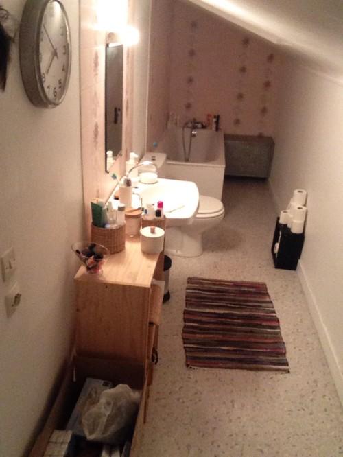Delicieux Salle De Bain Dans Un Couloir #6: Agencement Petite ...