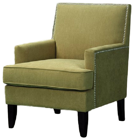 Colton Track Arm Club Chair Green Traditional