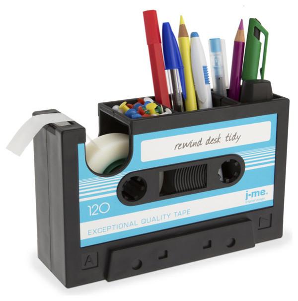 Rewind Desk Tidy Accessory, Aqua