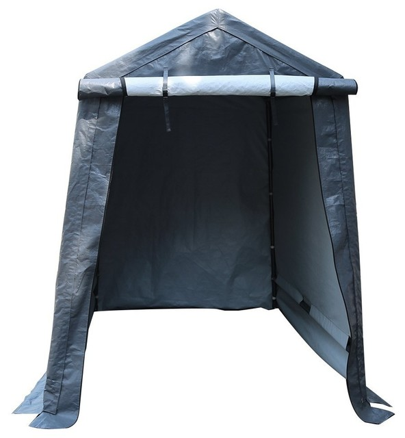 Abba Patio Storage Shelter 6&x27;x8&x27; Outdoor Shed Heavy Duty Canopy, Gray.