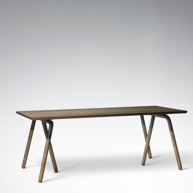 Raft table na2 tisch eiche tradition modern dining for Tisch eiche modern