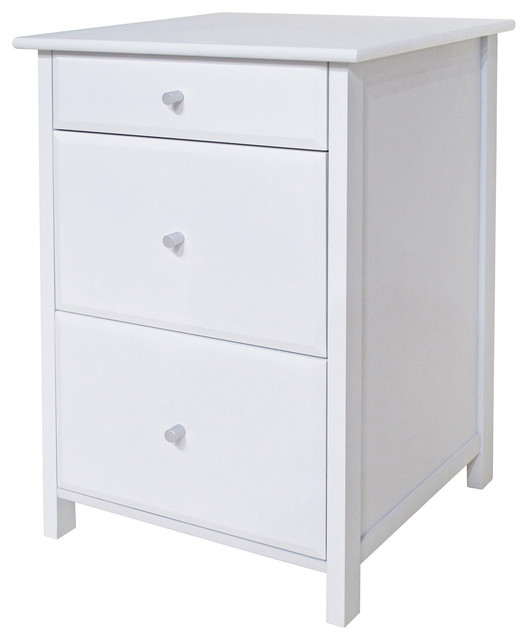 Winsome Wood Transitional White Composite Wood File Cabinet - Transitional - Filing Cabinets ...