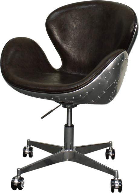 Duval Swivel Chair, Distressed Java