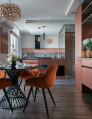 Проект недели Яркая кухня в квартире-шкатулке (10 photos)