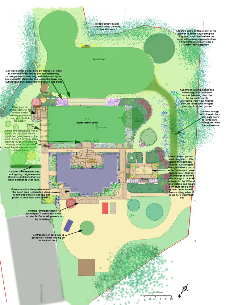 Overall concept plan for whole garden