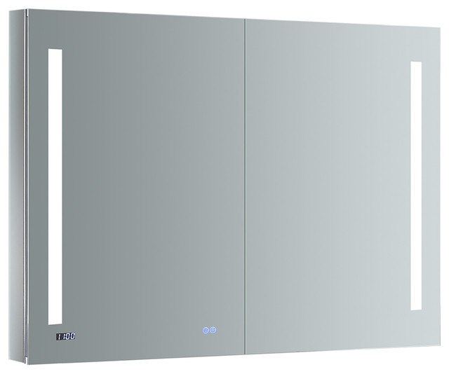 "Fresca Tiempo Bathroom Medicine Cabinet With Led Lighting,  48""x36""."