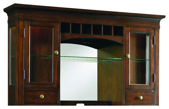 Abbott Place Warm Cherry Hutch - Transitional - China Cabinets And Hutches - by Hooker Furniture