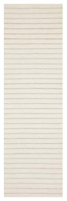 "Safavieh Dhurries White Contemporary Rug, Runner 2&x27;6""x6&x27;."