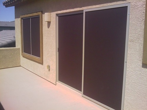 In This Dark Color It Hardly Looks Much Different Than Standard Screen Doors  Other Than Being On Both Pieces Of Glass And I Like That They Donu0027t Prevent  You ...