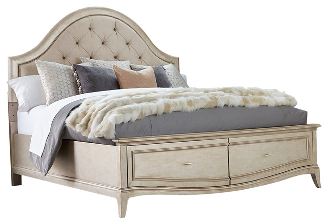 A.r.t. Furniture Starlite King Upholstered Panel Bed.