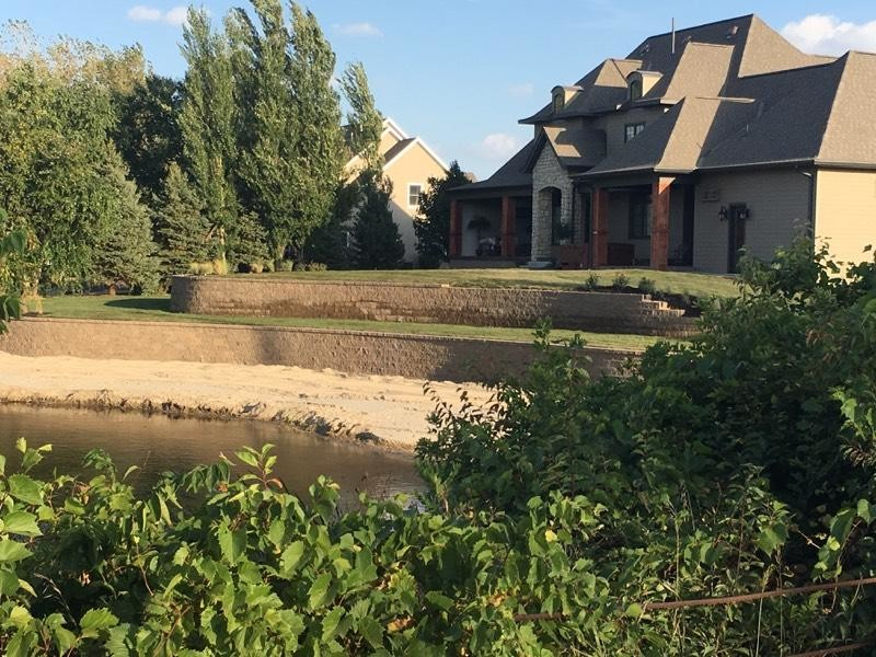Inspiration for a timeless exterior home remodel in Omaha