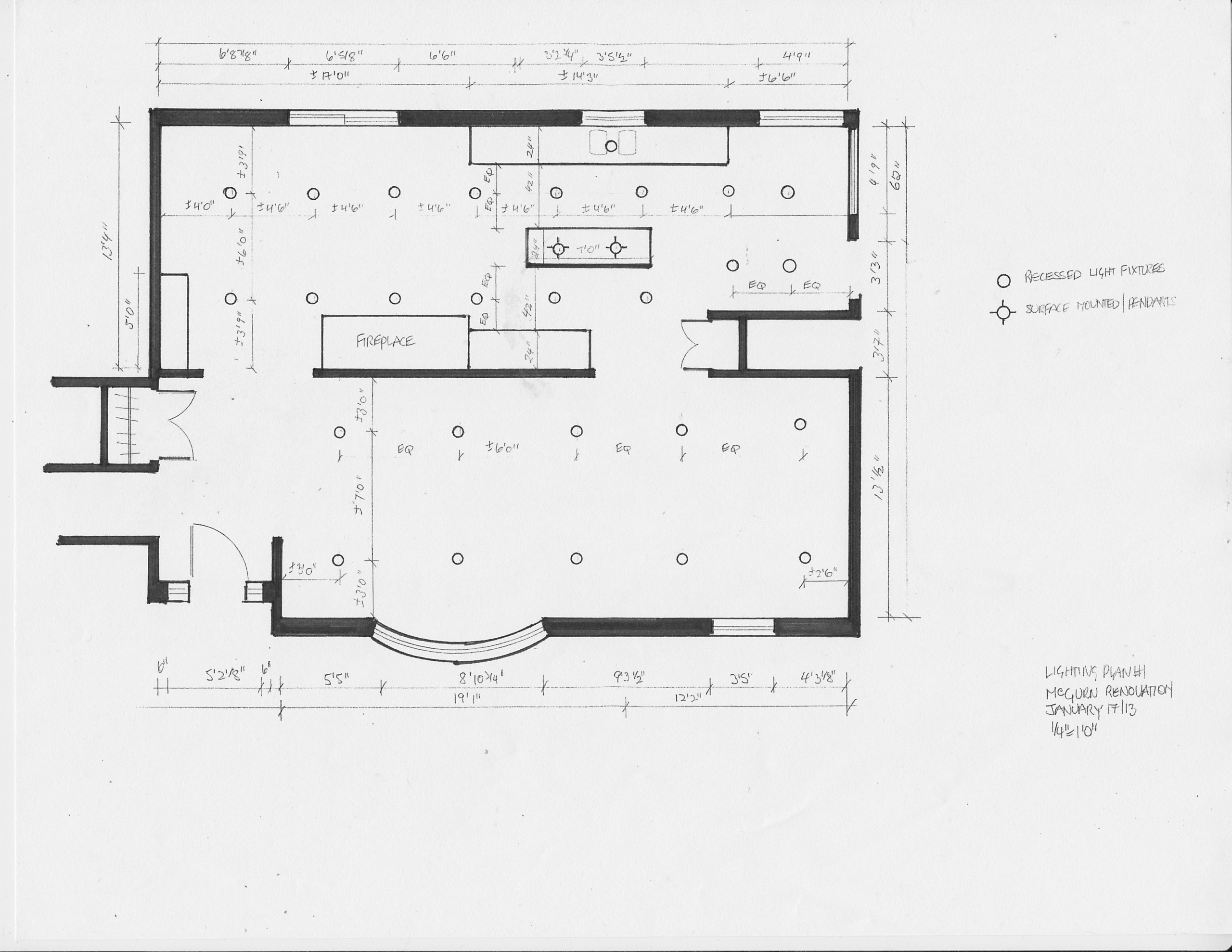 residential space plans- Tamworth reflected ceiling plan