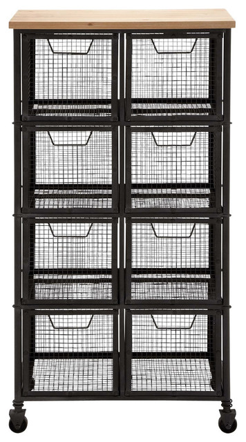 Broadfell Metal And Wood Storage Cabinet.