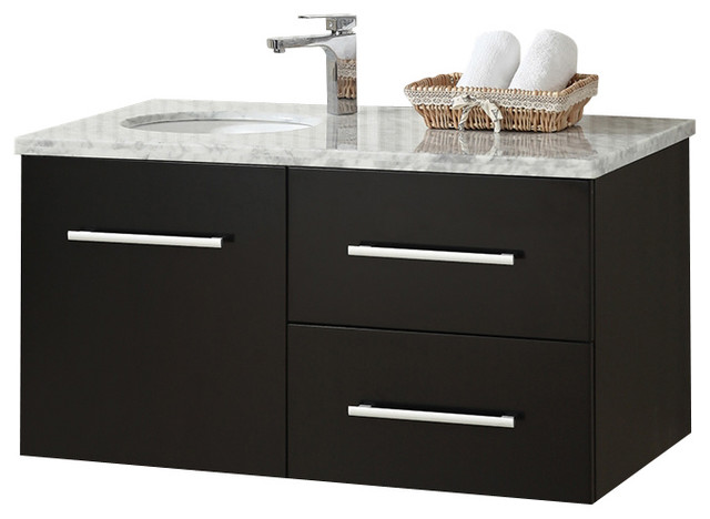 bathroom cabinet designs photos 41 quot single wall mount espresso vanity cabinet modern 15539