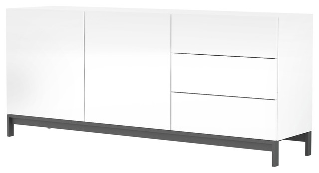 Metis Contemporary 2-Door Sideboard, White