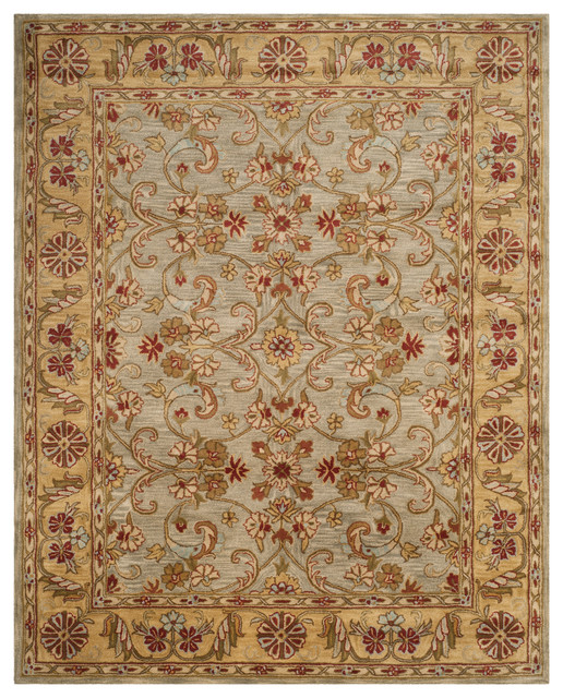 Nathaniel Hand Tufted Rug Light Green Gold 9 6 Quot X13 6