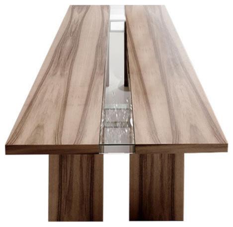 "Regency Rectangular Table, Natural Walnut Wood, 118""x47"""