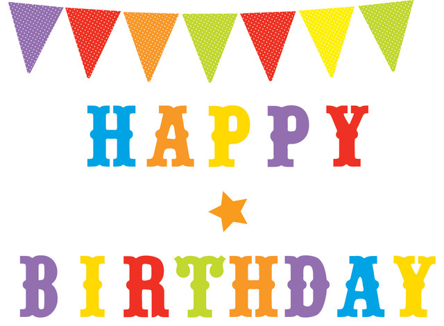 Hy Birthday Party Wall Decals And Pennants