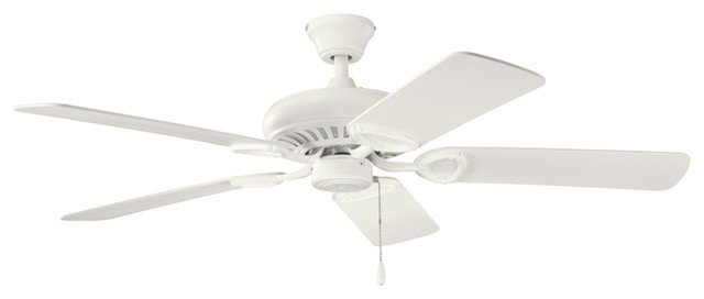 Sutter Place Indoor Ceiling Fans, Satin Natural White.