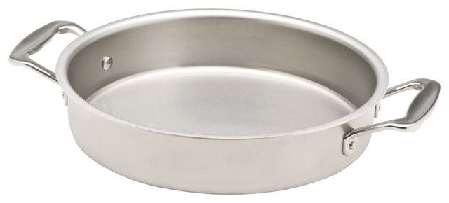 "360 Cookware 9"" Round Stainless Steel Cake Pan."