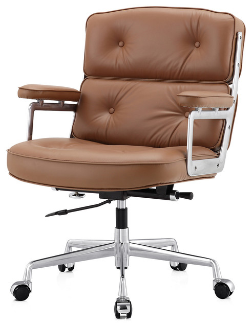 m310 office chair in aniline leather - contemporary - office