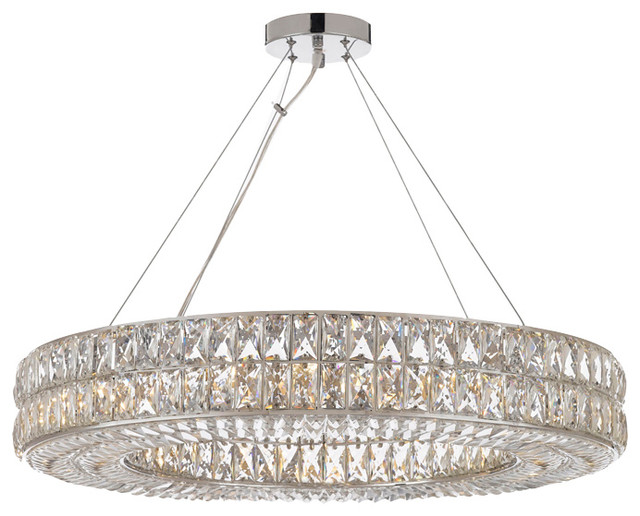Crystal Spiridon Ring Chandelier Modern/Contemporary Lighting Pendant  sc 1 st  Houzz & Crystal Spiridon Ring Chandelier Modern/Contemporary Lighting ...