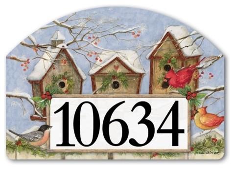 Christmas Birdhouse Yard Designs Magnetic Art Traditional House