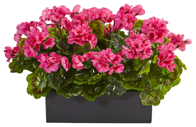 Geranium Silk Plant Rectangular Planter Uv Resistant
