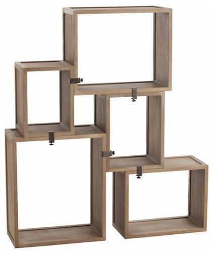 Modular Wall Shelving arteriors home stockard oak modular shelves - 5353 - contemporary