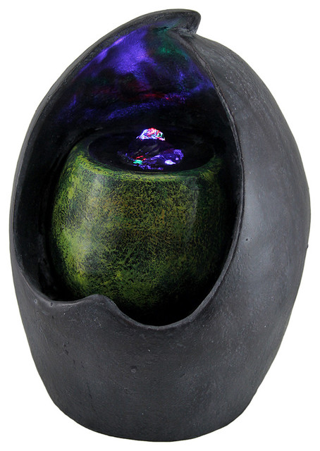Pot In Pot Decorative Abstract Tabletop Water Fountain with Colorful LED's