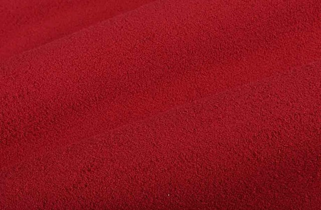 Shearling Suede Upholstery Fabric in Lipstick Red