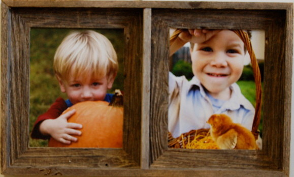 Collage Picture Frame Barn Wood Double Frame 8x10 Rustic