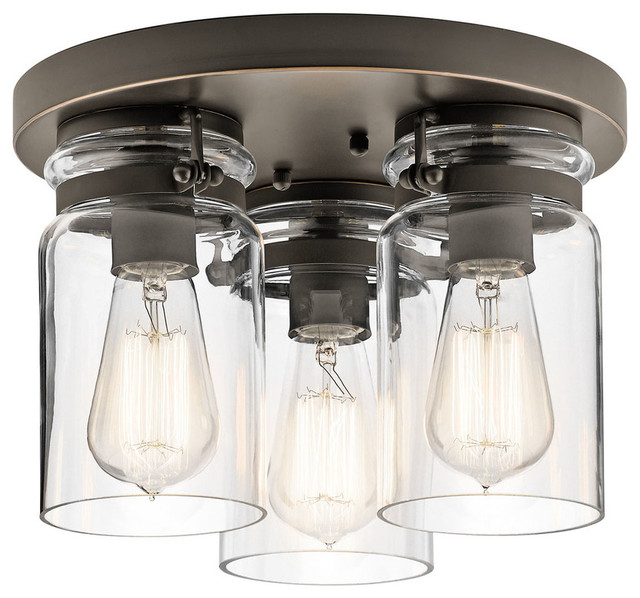 Kichler Lighting 42891 Brinley Flush Mount - Industrial - Flush ...