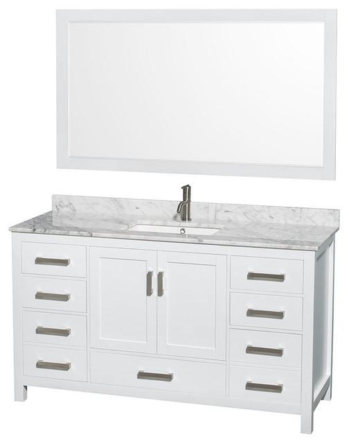 Wyndham Collection Wcs141460sunsm58 Sheffield 60 Hardwood Vanity Cabinet.