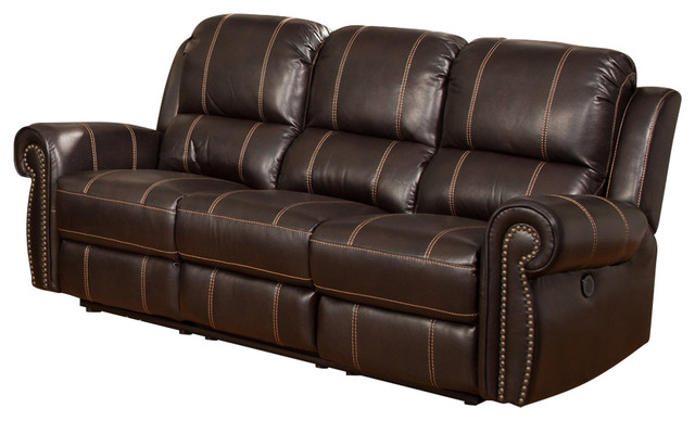 Parker Living Webber Sofa Dual Power Recliner, Sumatra
