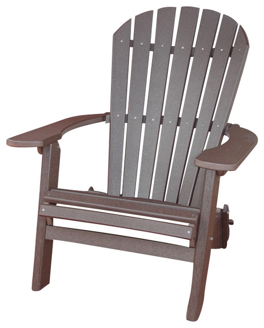 phat tommy recycled poly resin folding deluxe adirondack chair