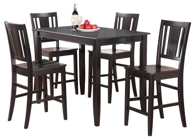 buck5 kitchen table set contemporary indoor pub and bistro sets by dinette4less. Black Bedroom Furniture Sets. Home Design Ideas