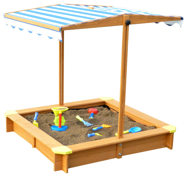 Sandbox with Canopy contemporary-sandboxes-and-sand-toys  sc 1 st  Houzz : sandbox canopy - memphite.com