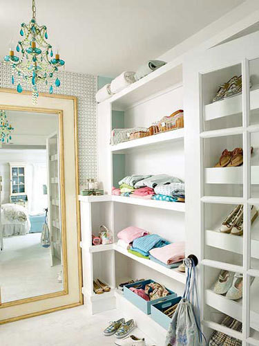Organizational Inspiration: Neat & Beautiful Closets </P> <P></P> <P>Apartment Therapy DC eclectic closet