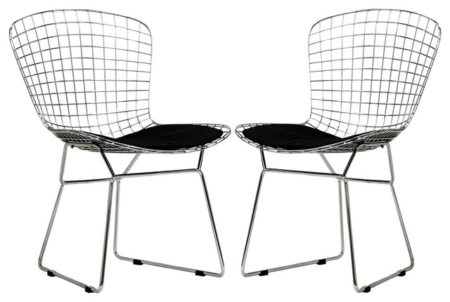 Cad Dining Chairs Set Of 2 Eei-925, Black.